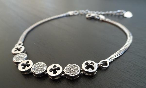 bracelet argent trèfles