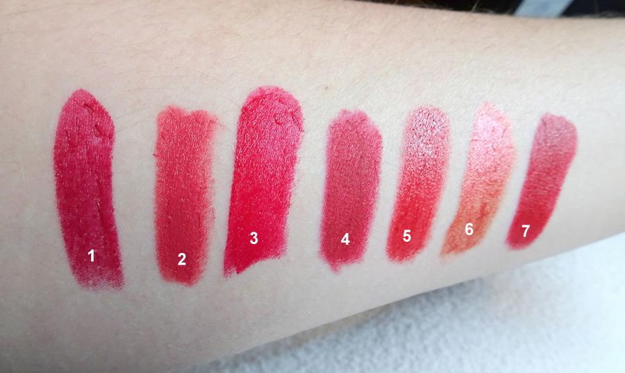 Rouges à lèvres rouges
