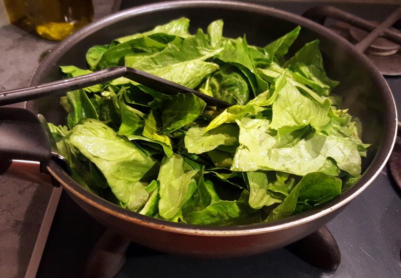 recette épinards frais